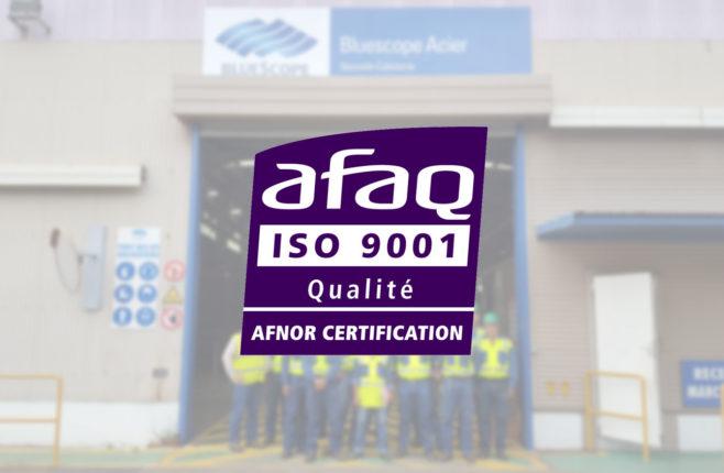 Bluescope certifée ISO 9001-2015